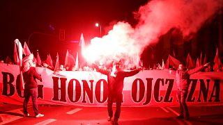 Grande marche nationaliste à Varsovie