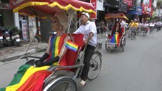 Bike rally through Vietnam capital marks end of annual gay pride week