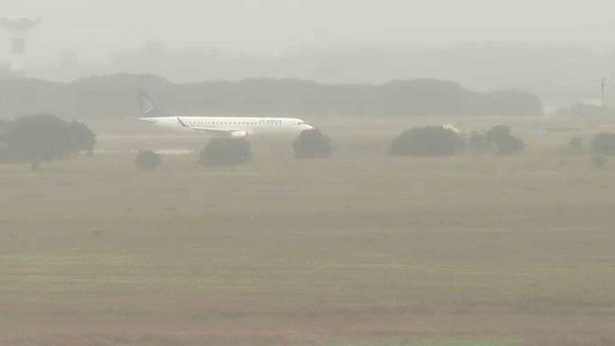 Aterragem de emergência no aeroporto de Beja