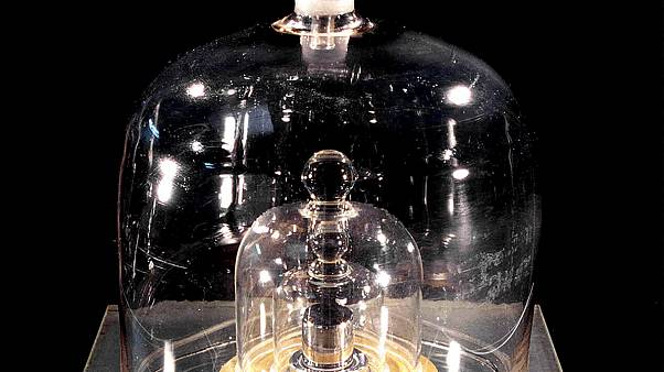 The International Prototype of the Kilogram is pictured in Paris, France
