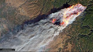 Flächenbrände: 3 Weltall-Fotos zeigen katastrophales Ausmaß