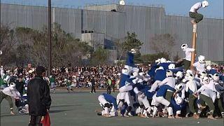 Japonya'da geleneksel 'direk devirme' yarışması: Botaoshi