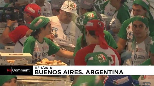 گینس؛ رکورد شکنی آرژانتینیها در پخت پیتزا