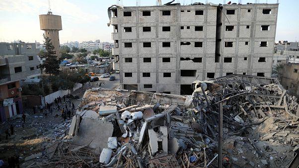Quello che resta della tv di Hamas.