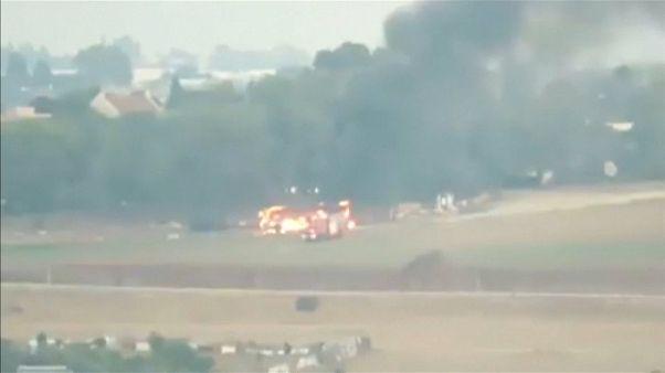 لحظة استهداف حافلة الجنود الإسرائيليين بصاروخ كورنيت شرق جباليا 12-11-2018