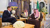 لقاء الملك سلمان بن عبد العزيز ووزير خارجية بريطانيا جيريمي هانت 12-11-2018