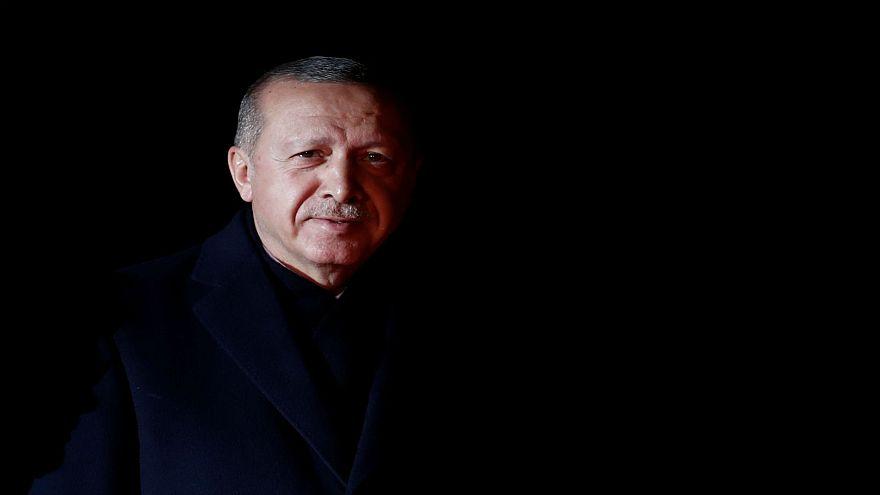 الرئيس التركي رجب طيب ارودغان في فرنسا يوم 10-11- 2018
