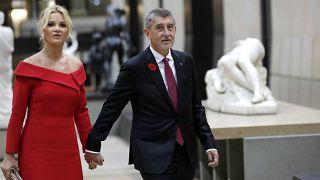 Tschechiens Ministerpräsident Andrej Babis mit seiner Frau.