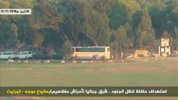 Video | Hamas'ın İsrail askerlerini taşıyan otobüsü vurduğu an