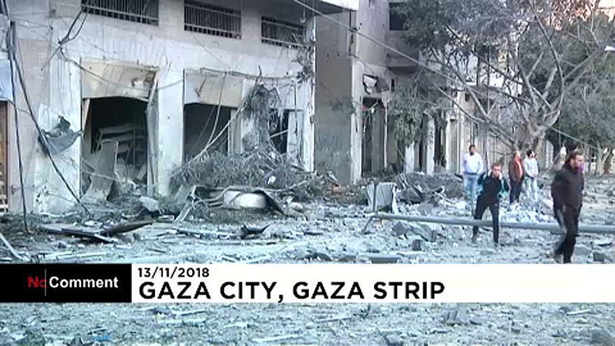 Nach den Luftangriffen: Trümmerfeld in Gaza