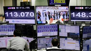 Asian shares falter, dollar at 16-month peak on Europe, Brexit woes