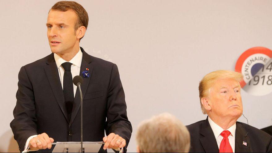 حمله توییتری ترامپ به ماکرون و فرانسه