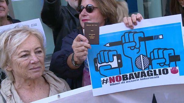 Italia, giornalisti in piazza per la libertà di stampa