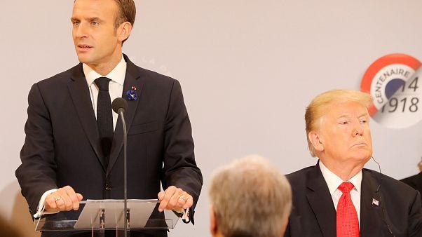 """Trump prende in giro Macron: """"Facciamo tornare grande la Francia!"""""""