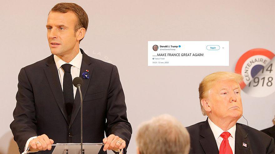 """Trump se burla de la popularidad de Macron y llama """"nacionalistas"""" a los franceses"""
