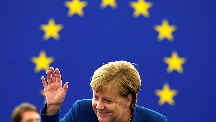 """El mensaje de solidaridad de Merkel, en """"The Brief from Brussels"""""""