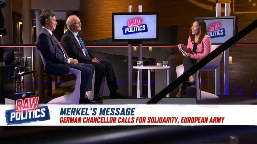 German MEPs react to Merkel's call for a European army | Raw Politics