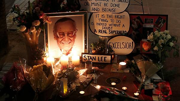 The star of Stan Lee on the Hollywood Walk of Fame in Los Angeles