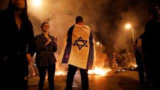 Tüntetők Dél-Izraelben