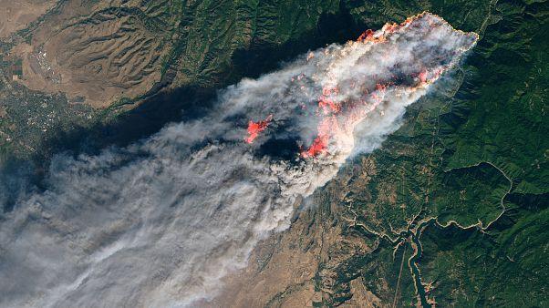 Οι φωτιές στην Καλιφόρνια από δορυφόρο της NASA