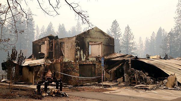 El fuego arrasador avanza sin control en California