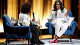 Michelle Obama, como una estrella de rock