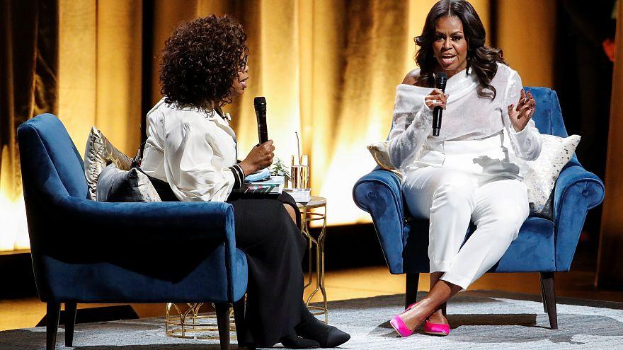 Michelle Obama, como una estrella de rock