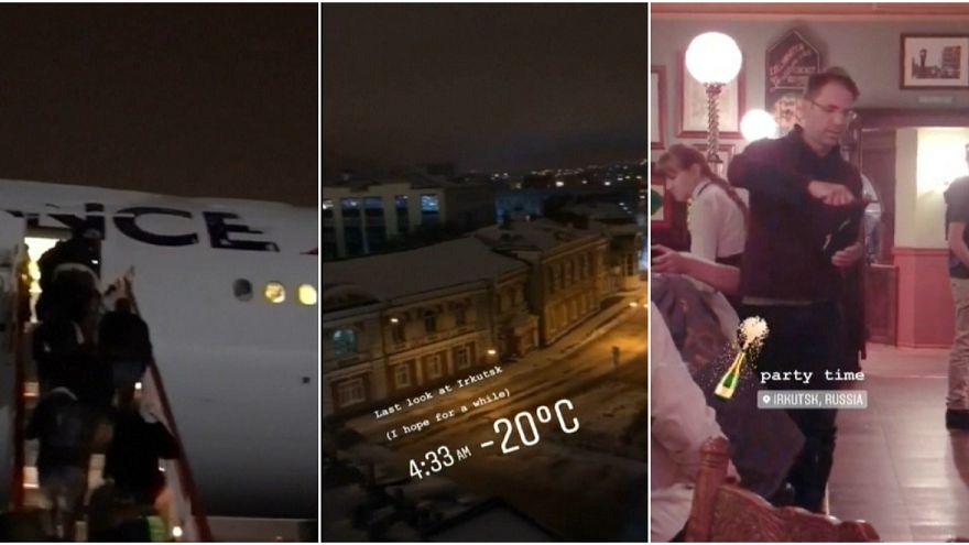 282 راكبا تحدوا برد سيبيريا القارس لثلاثة أيام بسبب عطل في طائرتهم