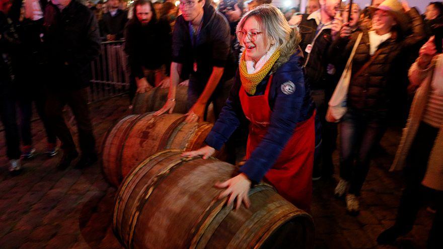 Lione: la festa del Beaujolais Nouveau