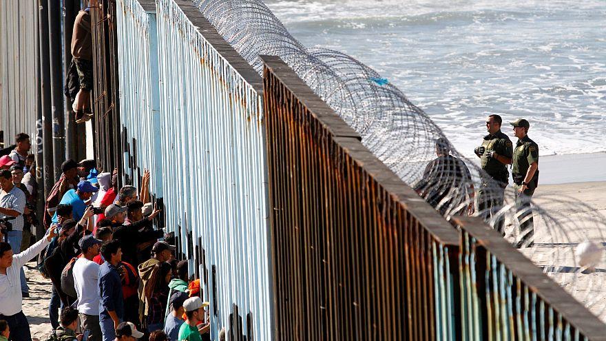 Les premiers migrants aux portes des Etats-Unis
