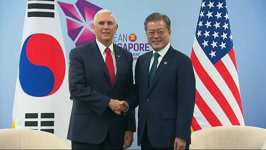 """Mike Pence: """"Trump jövőre újra találkozna Kim Dzsong Unnal"""""""