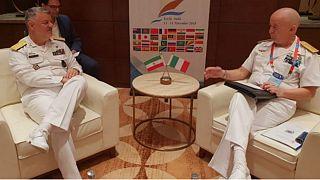 دیدار فرماندهان نیروی دریایی ایران و ایتالیا (عکس از فارس)