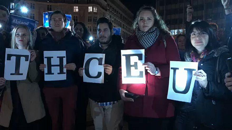 Tüntetés a CEU-ért