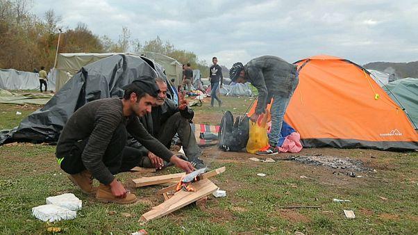 Bloqueados en Bosnia con temperaturas bajo cero