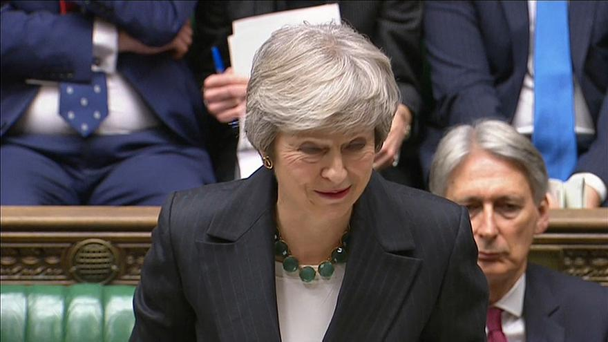 Theresa May in parliament