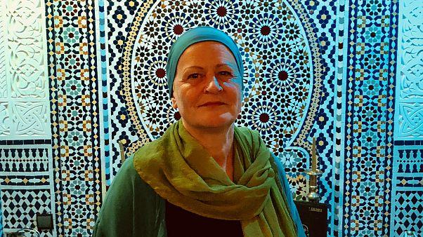 Alman Heike Eva Arndt 25 yıl önce İslamiyet'i seçti Foto: Bahtiyar Küçük