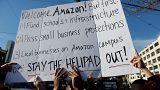 """محتجون في نيويورك ضد حوافز مقدمة لـ""""أمازون"""" بمليارات الدولارات"""