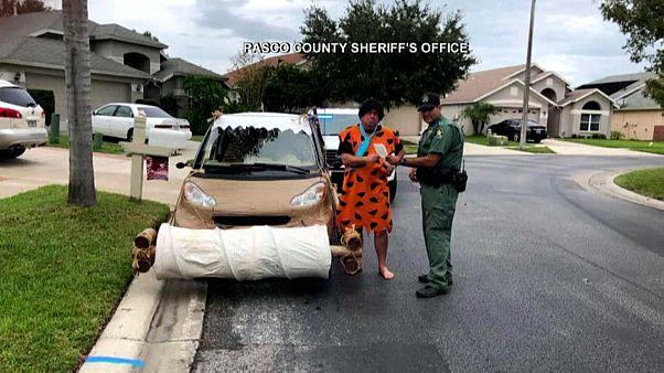 """Zu schnell unterwegs: """"Fred Flintstone"""" von der Polizei angehalten"""