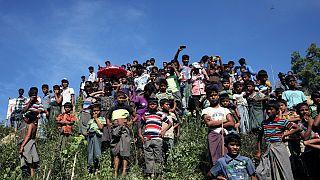 اوارگان روهینگیا در اردوگاهی در بنگلادش