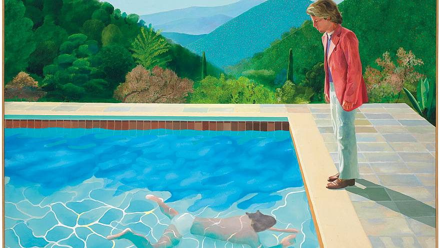 """Portrait of An Artist (Pool with Two Figures)"" by David Hockney"
