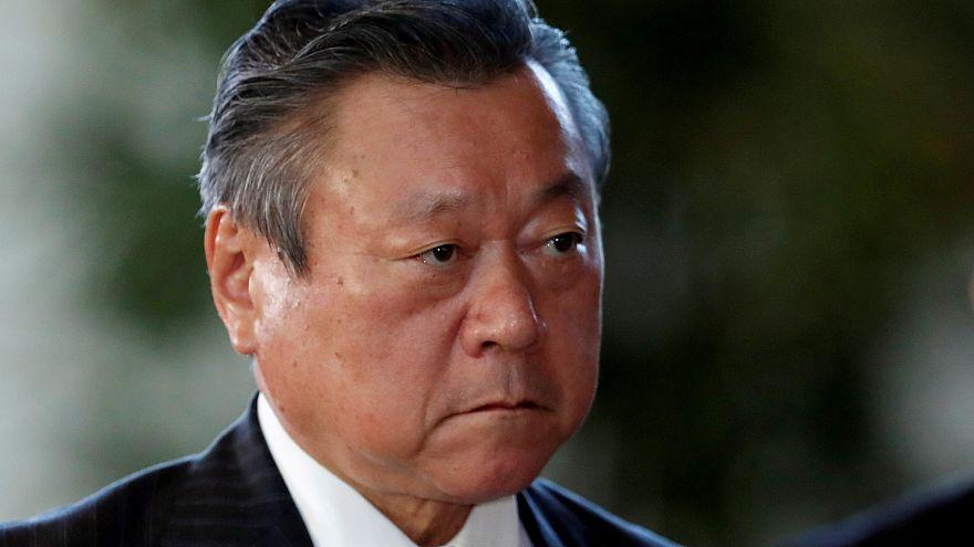 Japan's Cybersecurity and Olympic Minister Yoshitaka Sakurada.