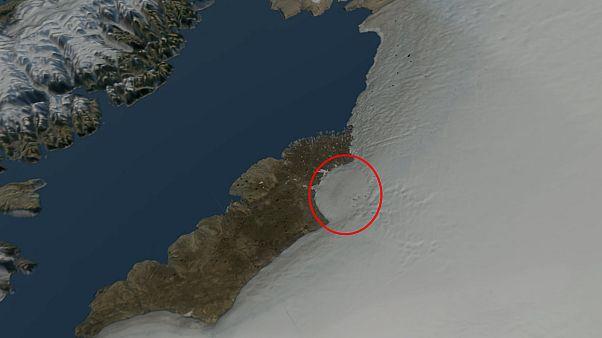 Grönland buzullarının altında dev krater keşfedildi
