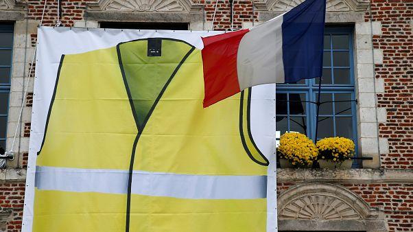 """Photo prétexte manifs des """"gilets jaunes"""" le 17/11/2018 en France."""