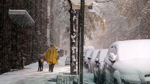 Зима пришла в Нью-Йорк