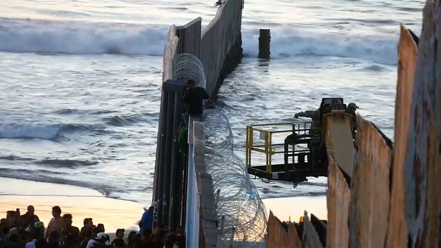 Protestas en Tijuana contra la caravana de migrantes