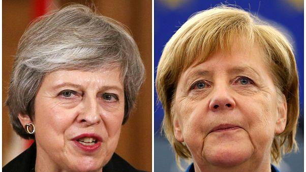 Theresa May e Angela Merkel