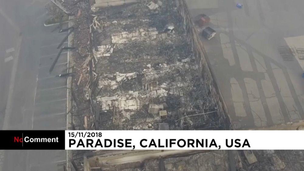 Рай сгорел до тла: съёмки с дрона