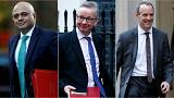 Sajid Javid, Michael Gove and Dominic Raab
