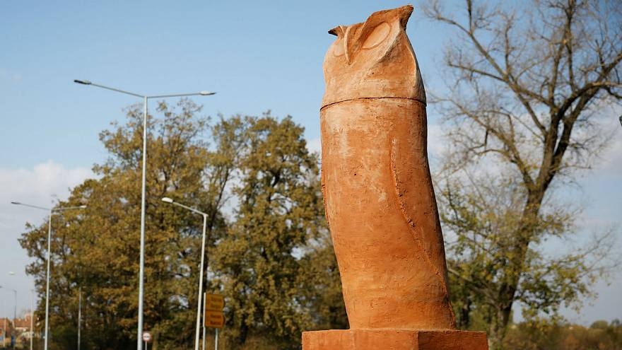 Watch: Phallic-shaped owl statue doesn't fly with Serbian town