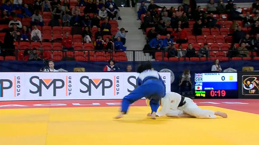 Dynamic display of judo on first day of The Hague Judo Grand Prix 2018